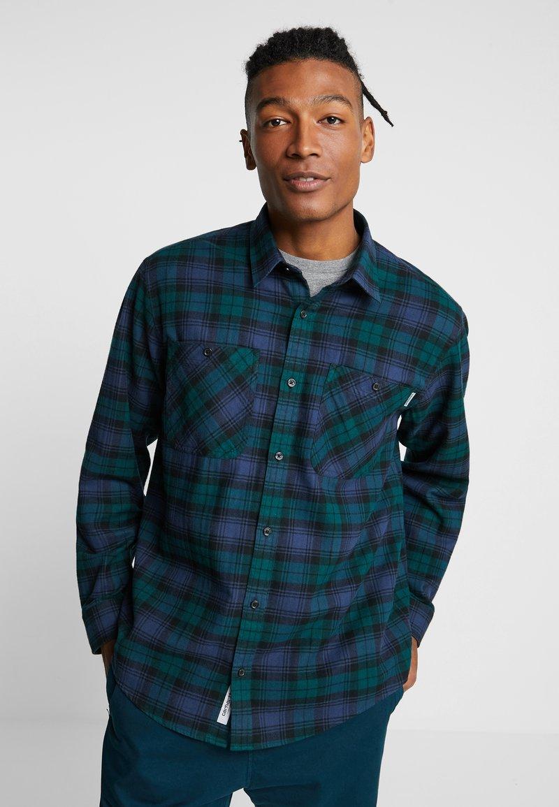 Carhartt WIP - PELKEY - Skjorte - dark fir/blue