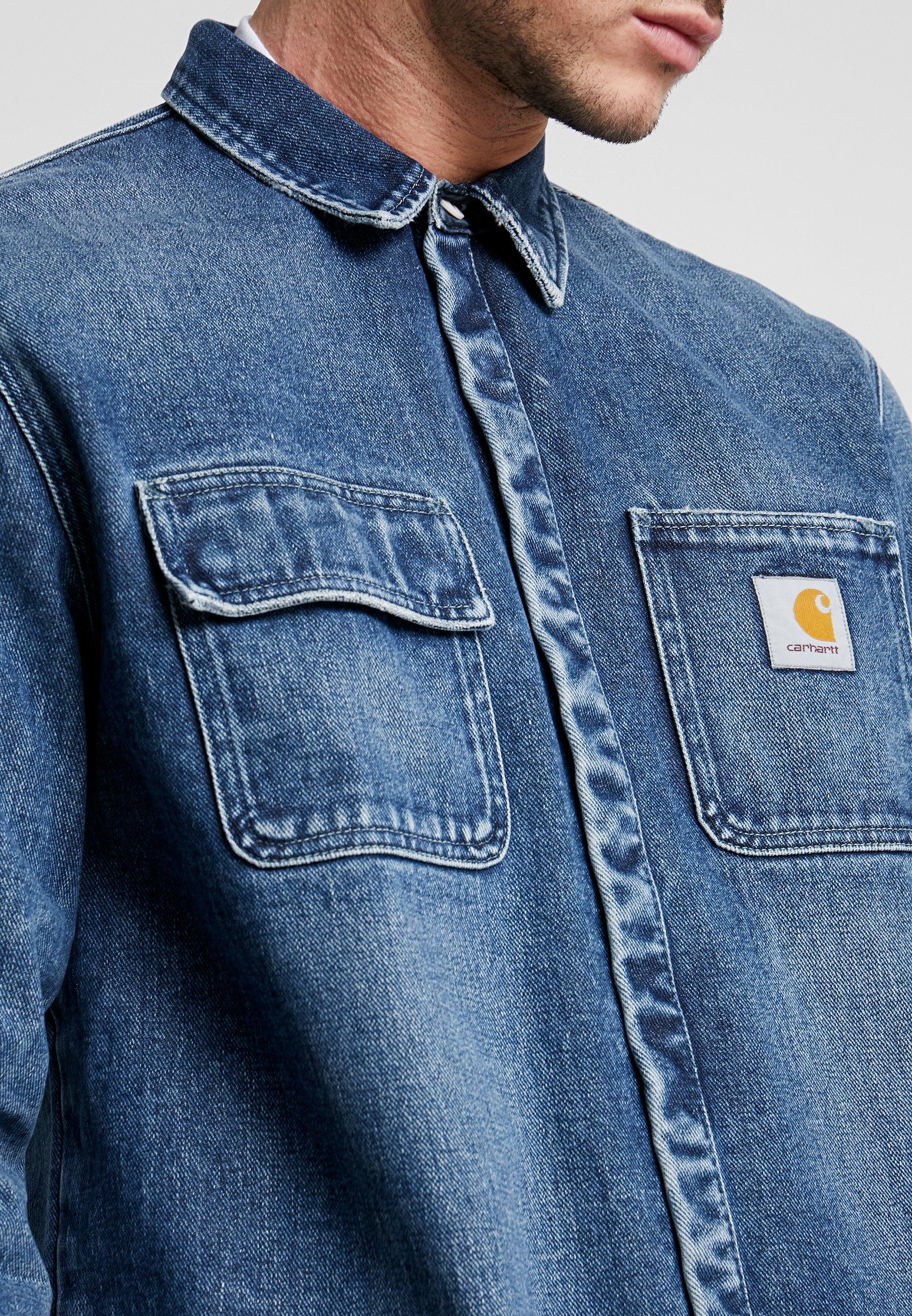 Carhartt WIP SALINAC MAITLAND - Koszula - blue mid worn wash