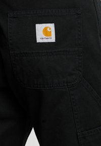 Carhartt WIP - RUCK SINGLE KNEE PANT MILLINGTON - Tygbyxor - black stone washed - 3
