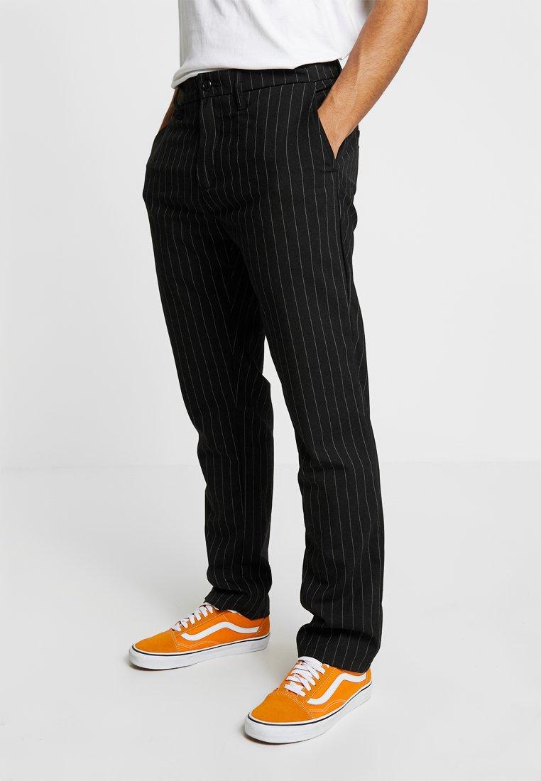 Carhartt WIP - JOHNSON DIAMOND - Trousers - pinstripe black/white rigid