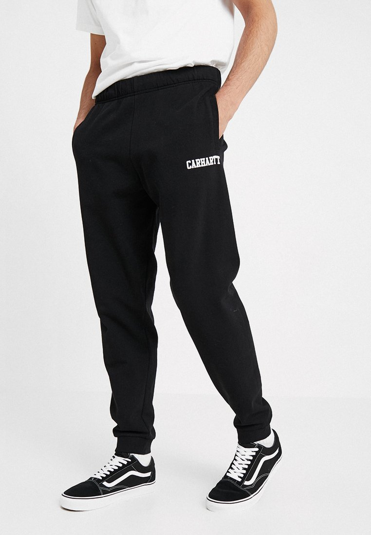 Carhartt WIP - COLLEGE PANT - Tracksuit bottoms - black/white