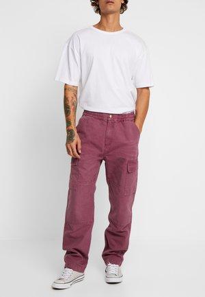 KEYTON PANT - Cargo trousers - dusty fuchsia