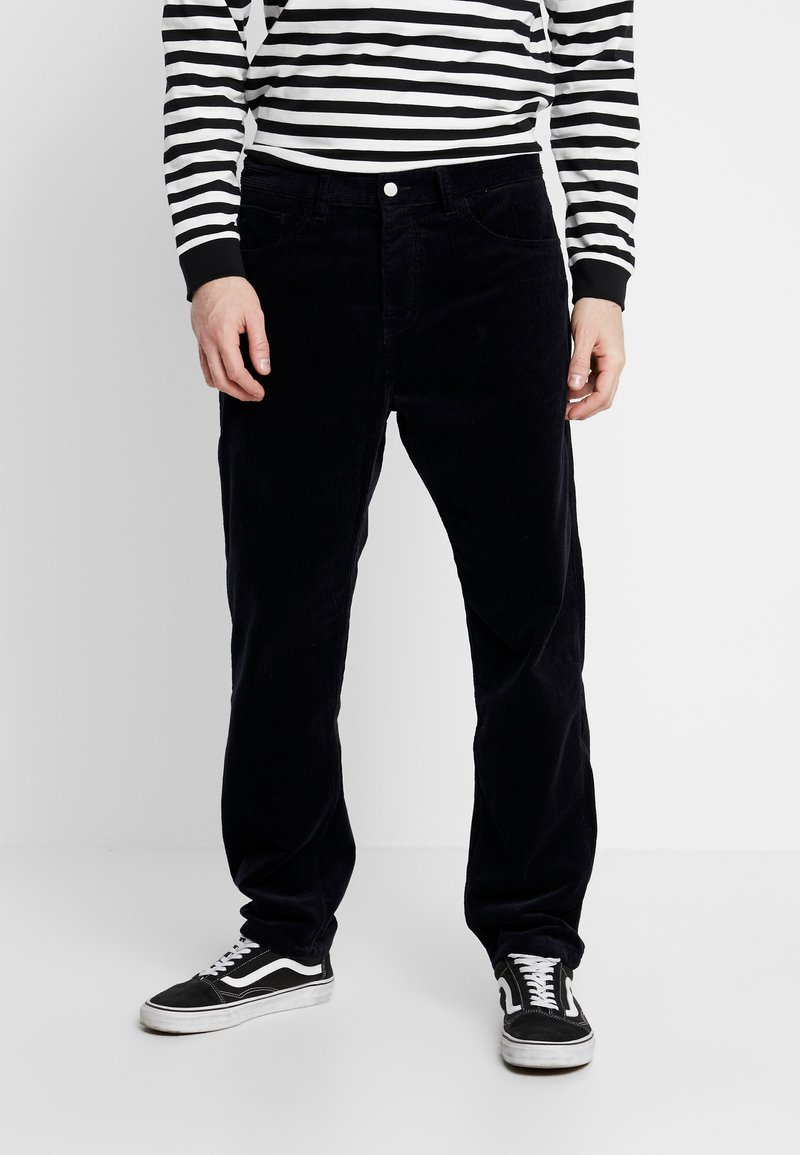Carhartt WIP - NEWEL PANT - Pantalon classique - dark navy rinsed