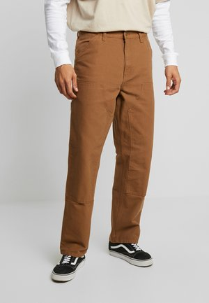 DOUBLE KNEE PANT DEARBORN - Pantaloni cargo - hamilton brown rinsed