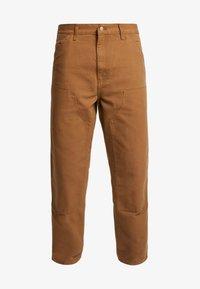 Carhartt WIP - DOUBLE KNEE PANT DEARBORN - Cargobyxor - hamilton brown rinsed - 3