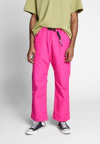 Carhartt WIP - CLOVER PANT LANE - Tygbyxor - ruby pink rinsed - 0