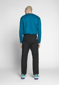 Carhartt WIP - CLOVER PANT LANE - Trousers - black rinsed - 2
