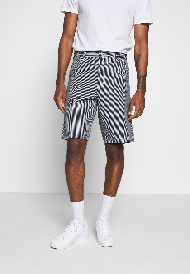 Carhartt WIP - SINGLE KNEE HERMOSA - Short en jean - blue/white