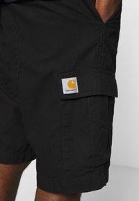 Carhartt WIP - AVIATION COLUMBIA - Shorts - black rinsed - 4