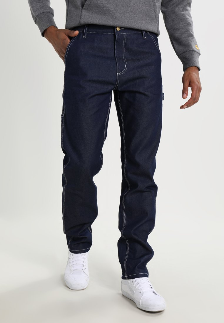 Carhartt WIP - RUCK SINGLE KNEE PANT - Straight leg jeans - blue rigid