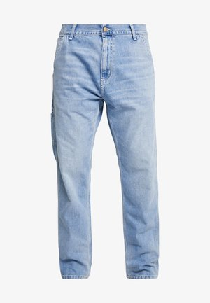 RUCK SINGLE KNEE PANT - Jeans straight leg - blue worn bleached