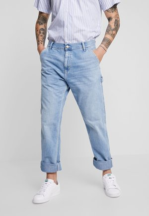RUCK SINGLE KNEE PANT - Džíny Straight Fit - blue worn bleached