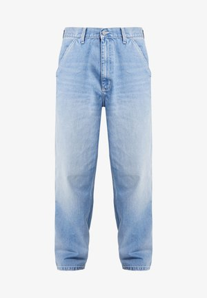 SIMPLE PANT NORCO - Jeans relaxed fit - blue worn bleached