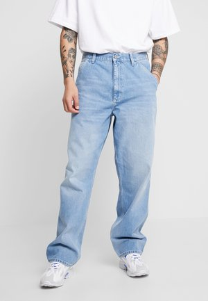 SIMPLE PANT NORCO - Jeans baggy - blue worn bleached