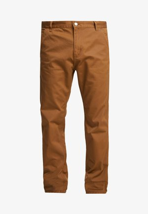 RUCK SINGLE KNEE PANT - Džíny Relaxed Fit - hamilton brown rinsed