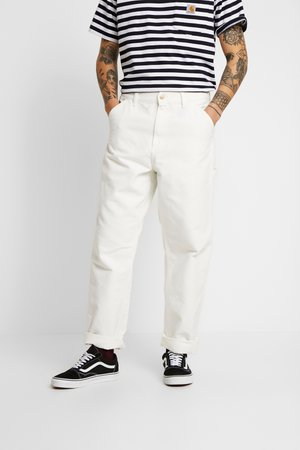 SINGLE KNEE PANT DEARBORN - Jean droit - off-white