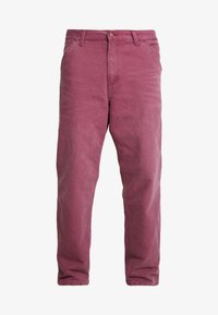 Carhartt WIP - SINGLE KNEE PANT DEARBORN - Jeans Straight Leg - dusty fuchsia aged - 3