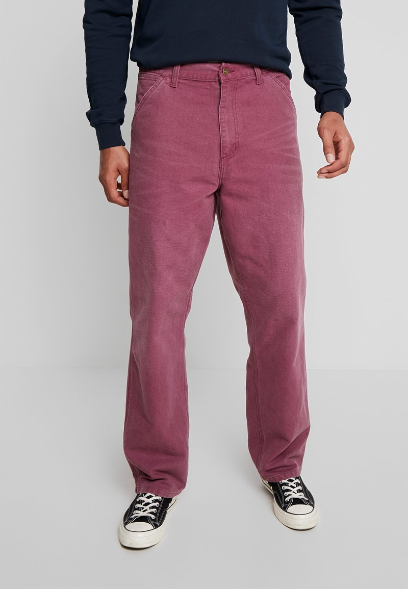 Carhartt WIP - SINGLE KNEE PANT DEARBORN - Jeans Straight Leg - dusty fuchsia aged