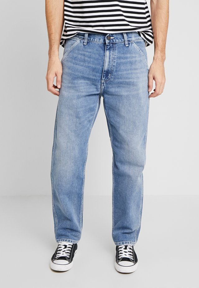 PENROD PANT MAITLAND - Jeans baggy - blue worn bleached