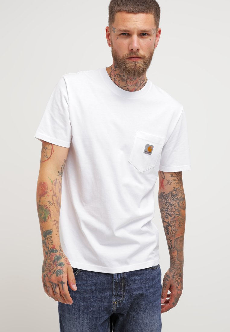 Carhartt WIP - POCKET - Basic T-shirt - white