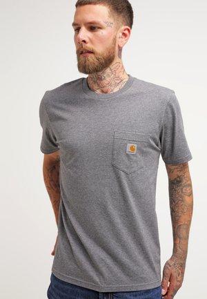 POCKET - T-shirt basique - dark grey heather