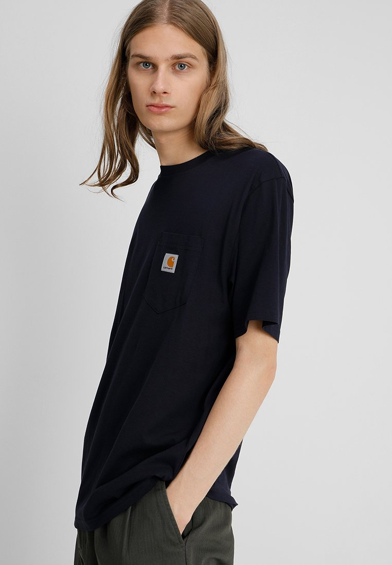 Carhartt WIP - POCKET - T-Shirt basic - dark navy