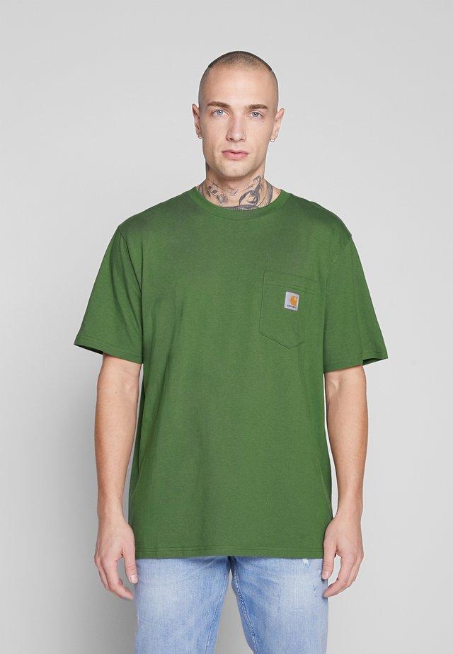 POCKET - Basic T-shirt - dollar green