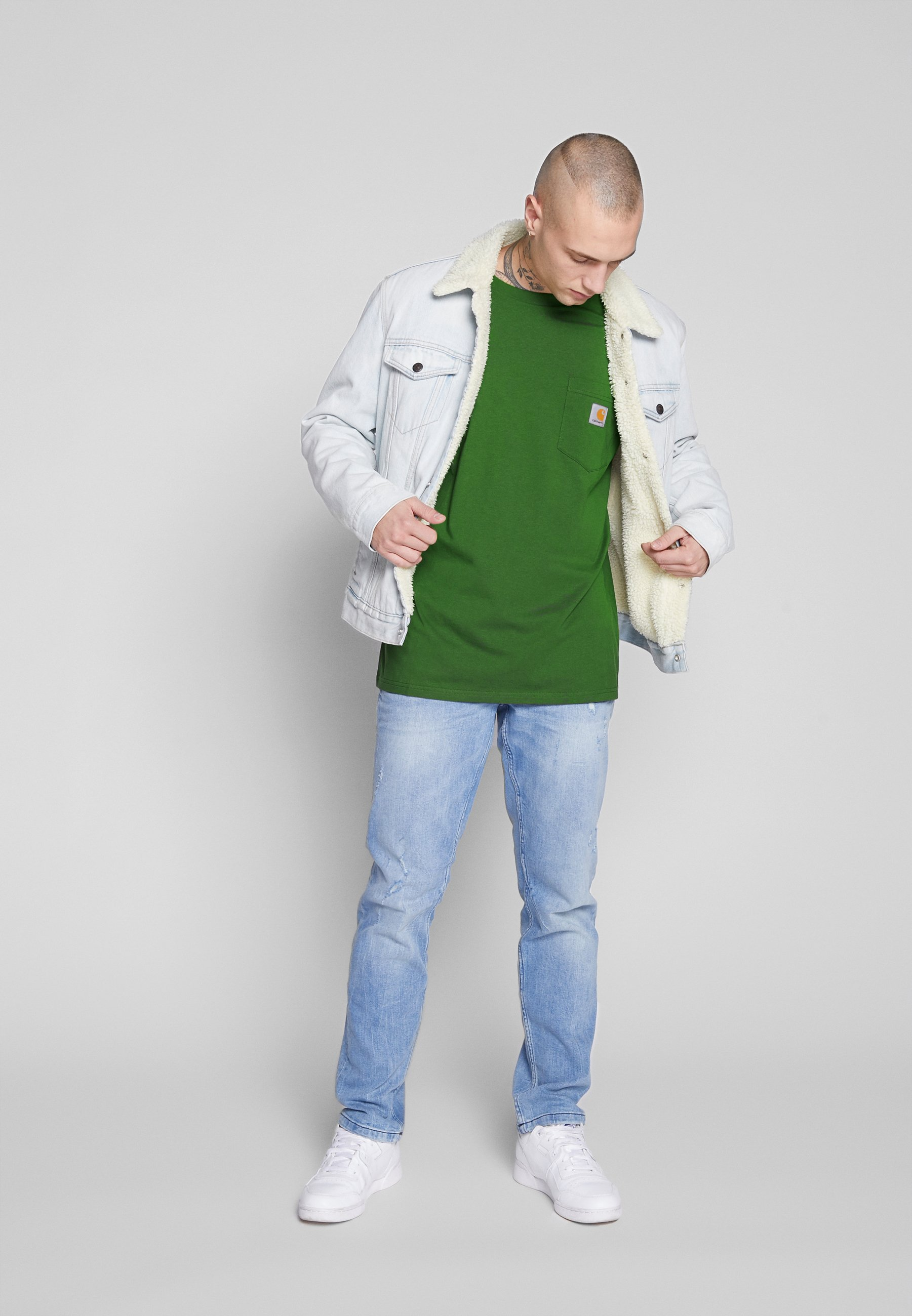 Carhartt WIP POCKET - T-shirt basic - dollar green