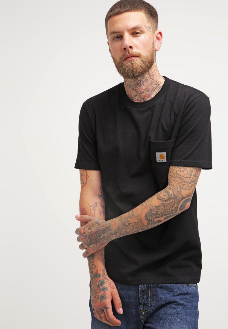Carhartt WIP - POCKET - T-shirt - bas - black