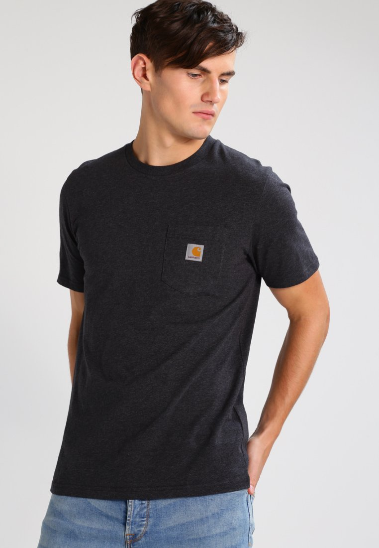 Carhartt WIP - POCKET - T-shirt basic - black heather