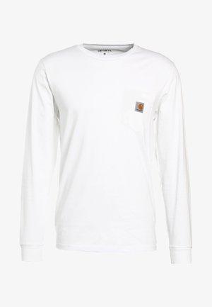 POCKET  - Camiseta de manga larga - white