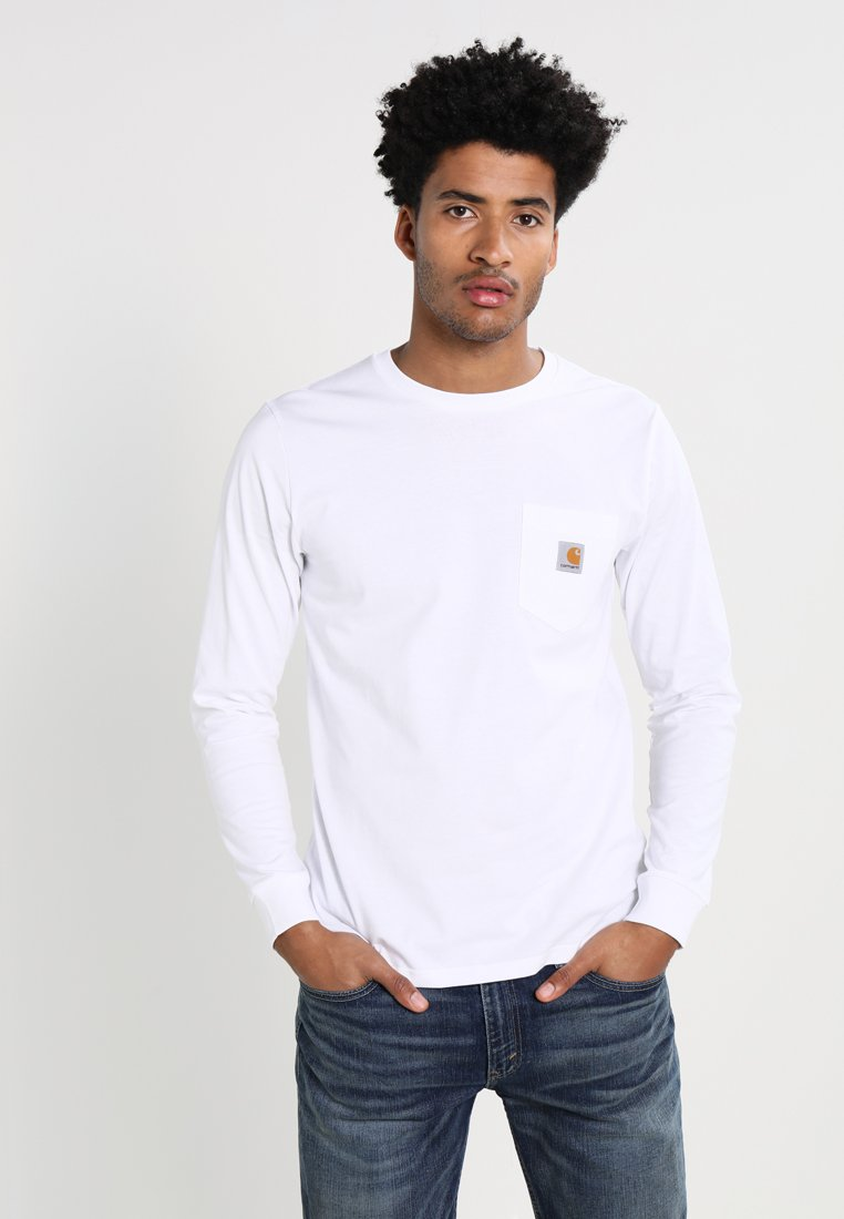 Carhartt WIP - POCKET  - Long sleeved top - white