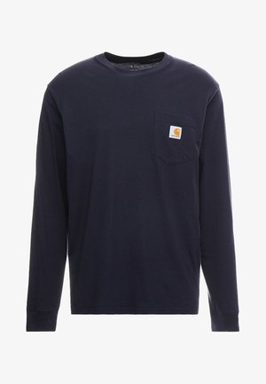 POCKET  - Long sleeved top - dark navy