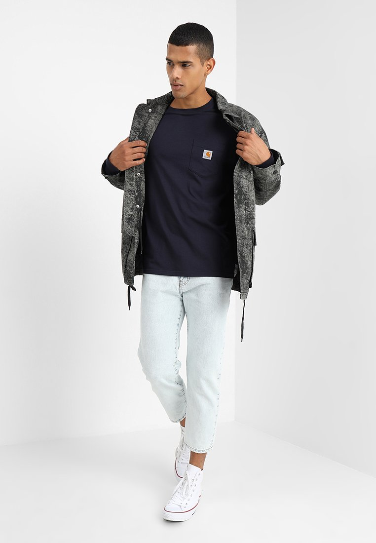 Carhartt Wip Pocket - T-shirt À Manches Longues Dark Navy