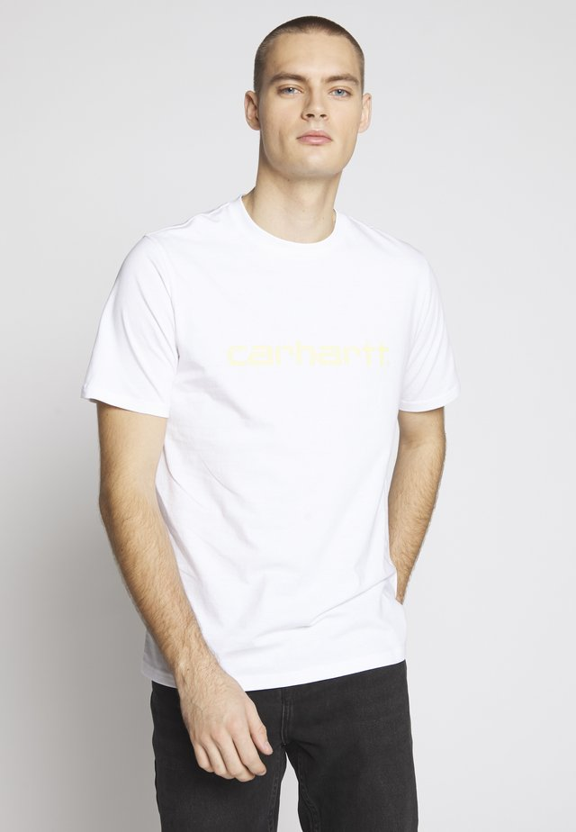 SCRIPT - T-shirt con stampa - white/lime