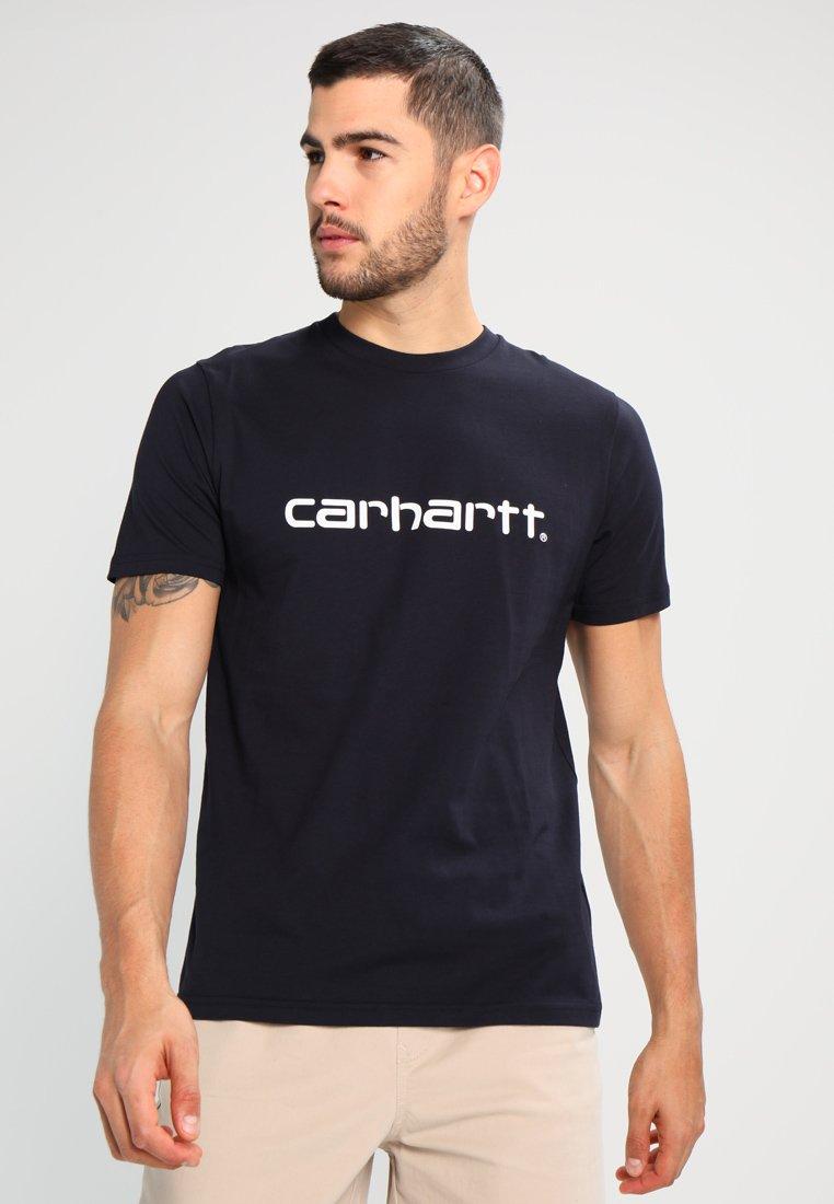 Carhartt WIP - SCRIPT - T-shirt imprimé - dark navy/white