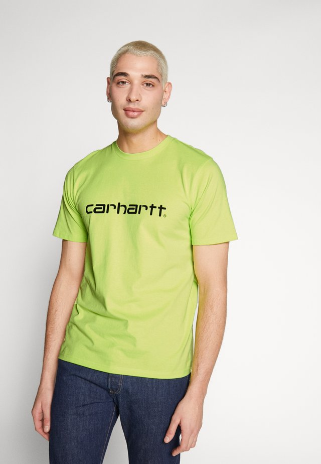 SCRIPT - T-shirt con stampa - lime/black