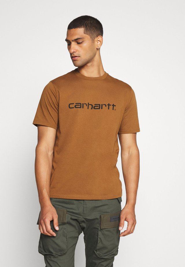 SCRIPT - T-shirt con stampa - hamilton brown/black