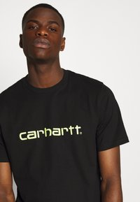 Carhartt WIP - SCRIPT - T-shirt imprimé - black/lime - 5