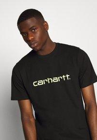 Carhartt WIP - SCRIPT - T-shirt imprimé - black/lime - 3