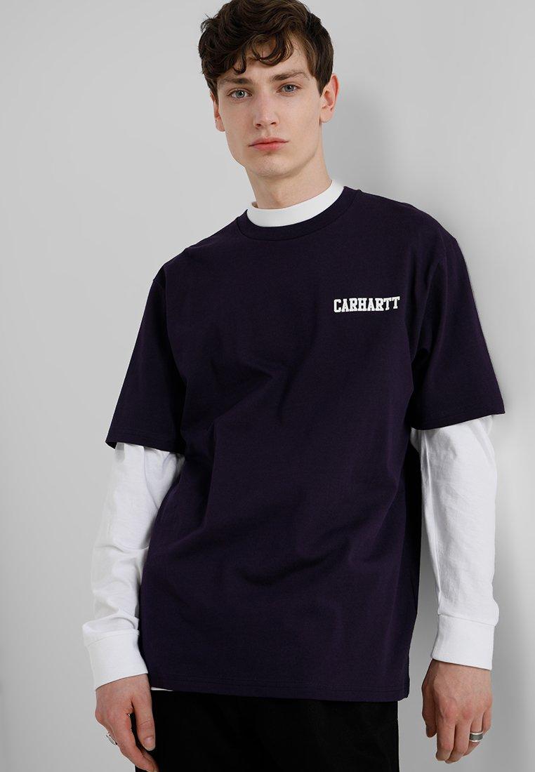 Carhartt WIP - COLLEGE SCRIPT - T-shirt basic - lakers/white