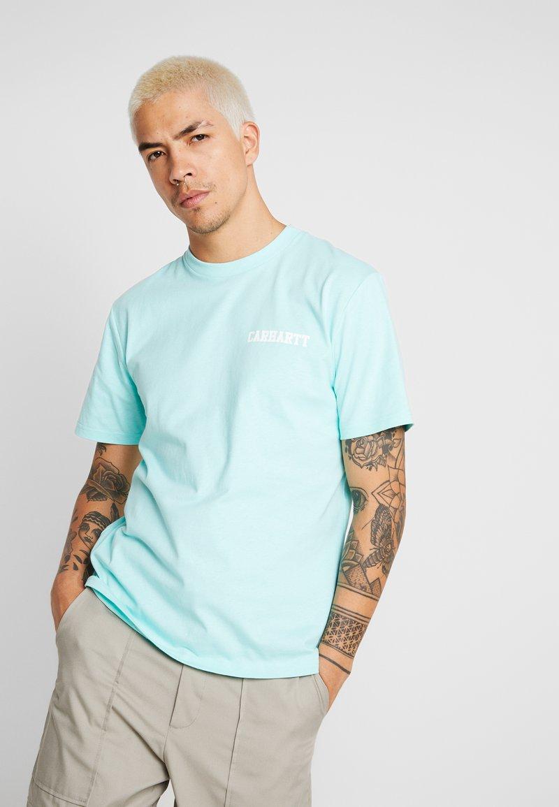 Carhartt WIP - COLLEGE SCRIPT - Basic T-shirt - light yucca white