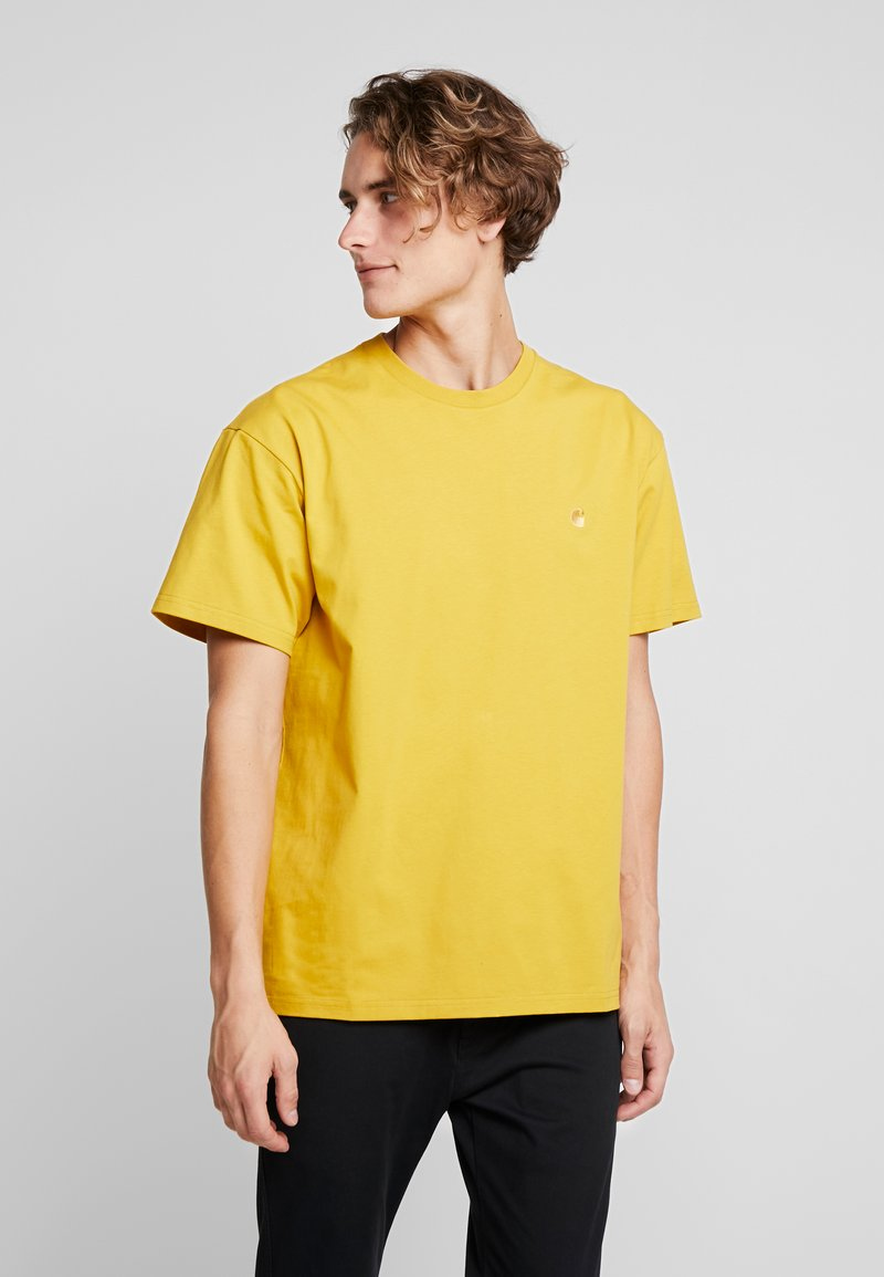 Carhartt WIP - CHASE  - T-shirt basique - colza/gold
