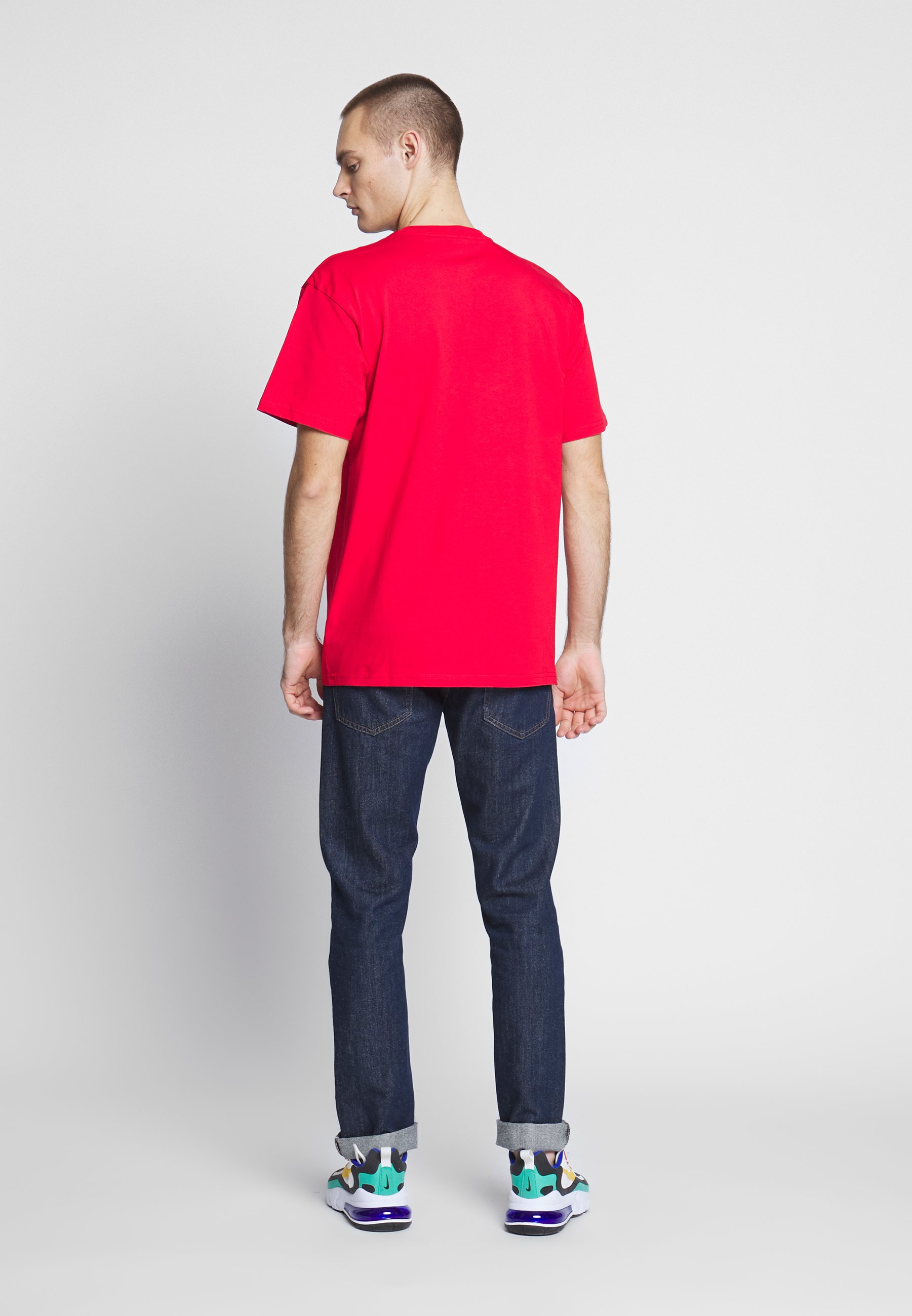 Carhartt WIP CHASE - T-shirt basic - etna red / gold