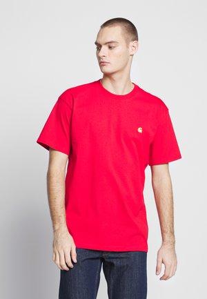 CHASE  - T-shirt basique - etna red / gold