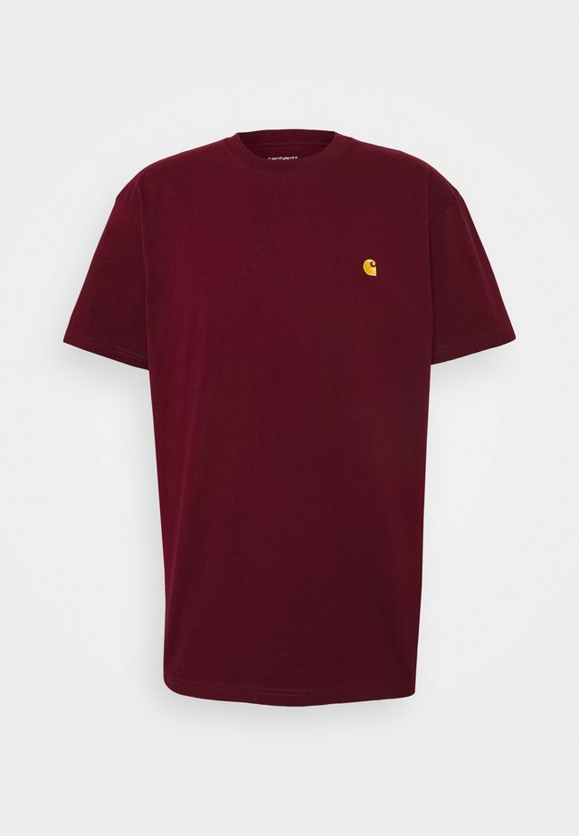 CHASE  - T-shirt basic - bordeaux / gold