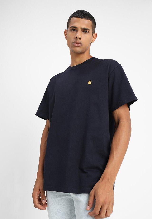 CHASE  - Basic T-shirt - dark navy/gold