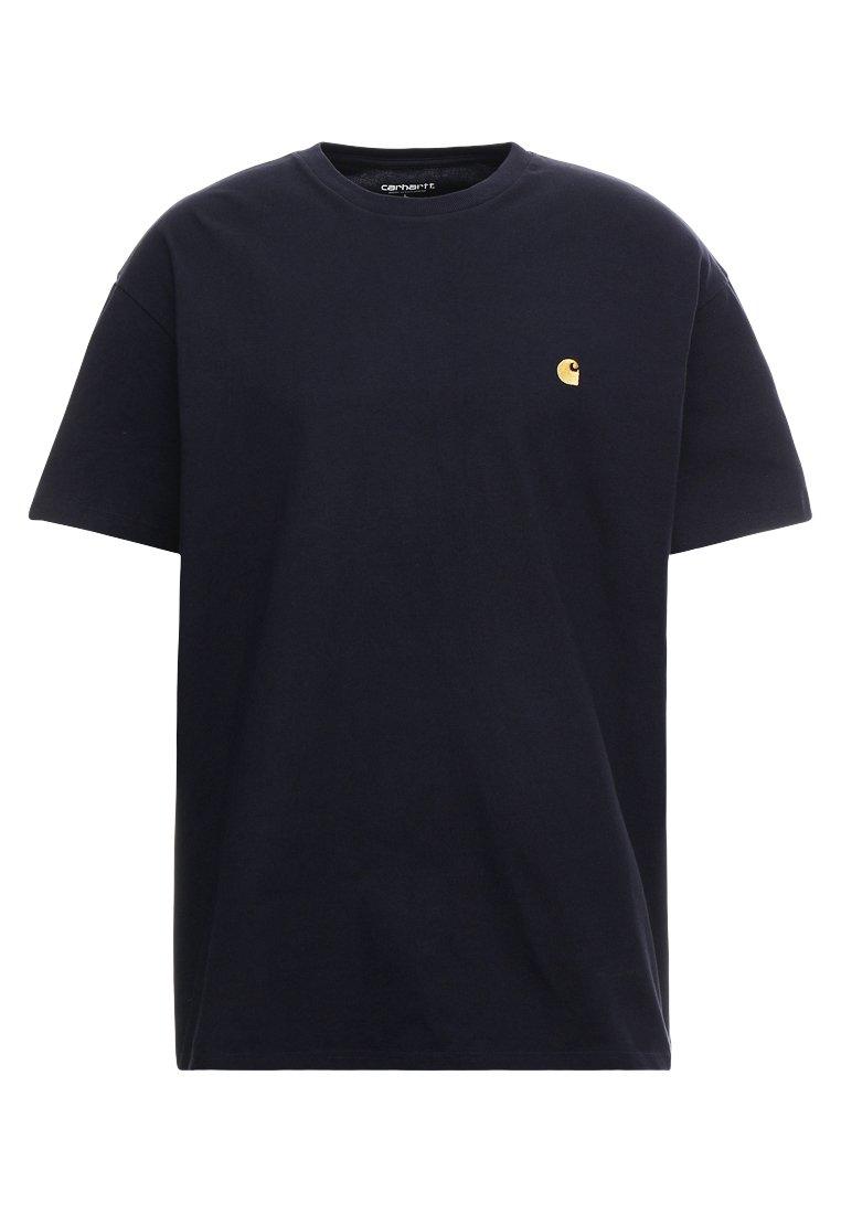 Carhartt WIP CHASE - T-shirt basic - dark navy/gold