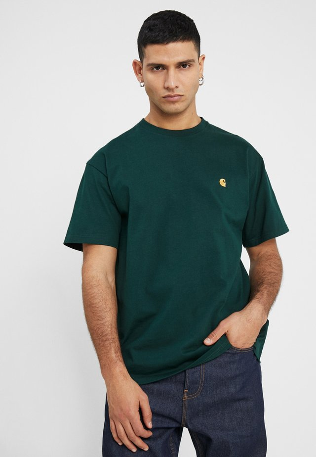CHASE  - T-shirt basic - bottle green/gold
