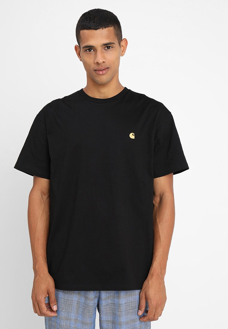 Carhartt WIP - CHASE  - T-shirts - black/gold